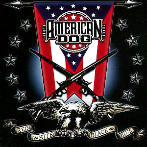 AMERICAN DOG - RED, WHITE, BLACK &  BLUE