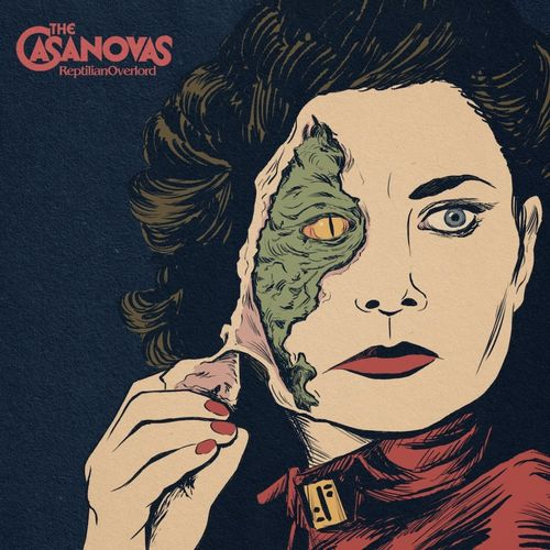 THE CASANOVAS - REPTILIAN OVERLORD LP green colour